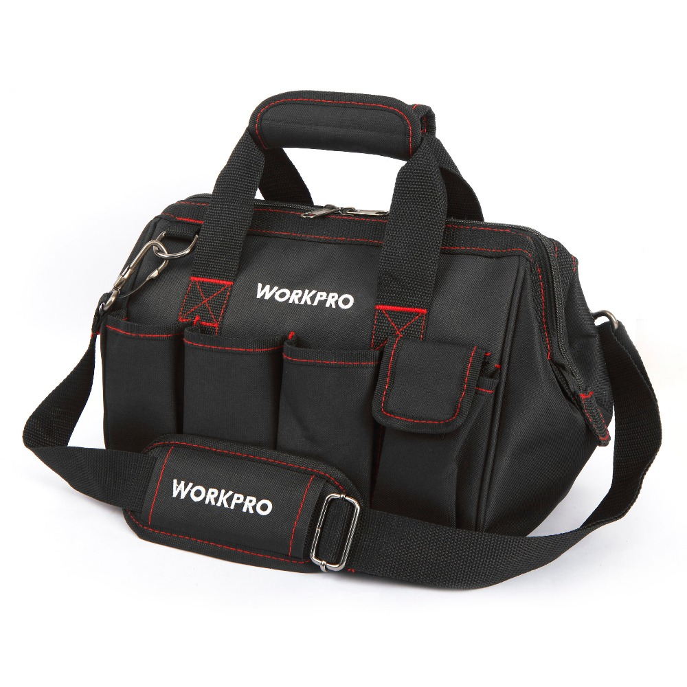 WORKPROツールバッグ600D Close Top Wide Mouth Electrician Bags S - 工具の収納に役立つアイテム - 写真 2