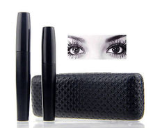 Profesional Extrema Larga Curly Lashes Negro Waterproof mascara Curling Grueso 3d Volumen de Fibra Pestañas Maquillaje