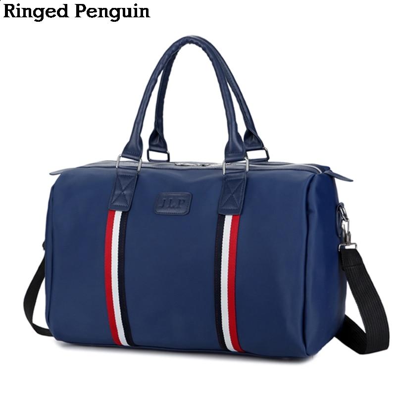 Anillado pingüino mujeres bolsas de viaje 2018 cuero de moda de gran - Bolsas para equipaje y viajes
