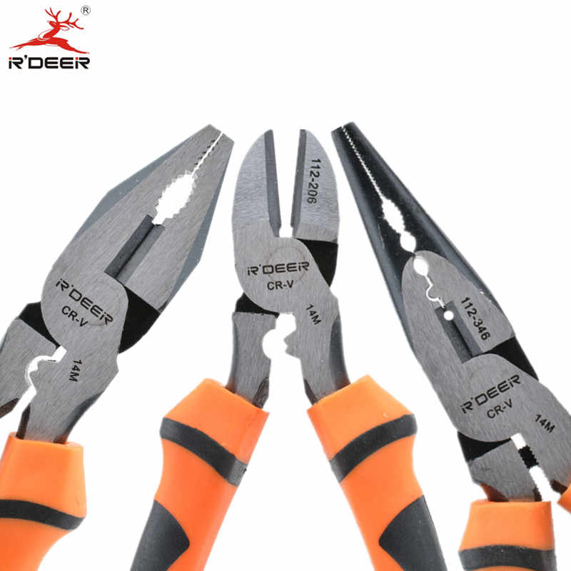 "RDEER 1PC Pliers 6""/150mm CRV Multitool Wire Stripper For Cutting Crimping Multi Functional Electrician Hand Tools"