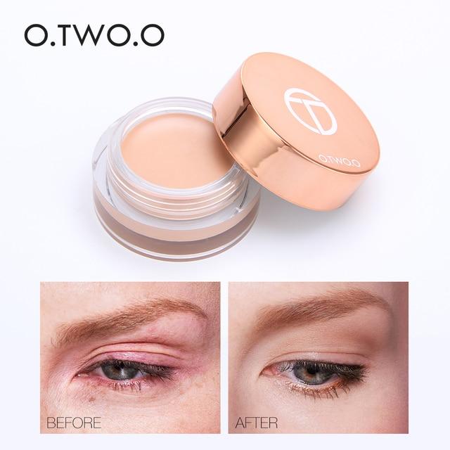 O dos O nueva lista de maquillaje de belleza de ojos Base delicada correctora Base de brillo impermeable antimanchas crema Base de piel TSLM2