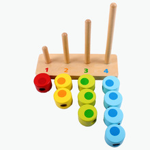 Baby Montessori Educational Wooden Toys Stack Rings Preschool Learning for Children Juguetes Brinquedos ME2444H