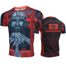 VSZAP Men T-shirt Quick-Drying Breathable Style MMA Fitness Fight Sporting Short-sleeved UFC Fighting Wear Muay Thai Sanda