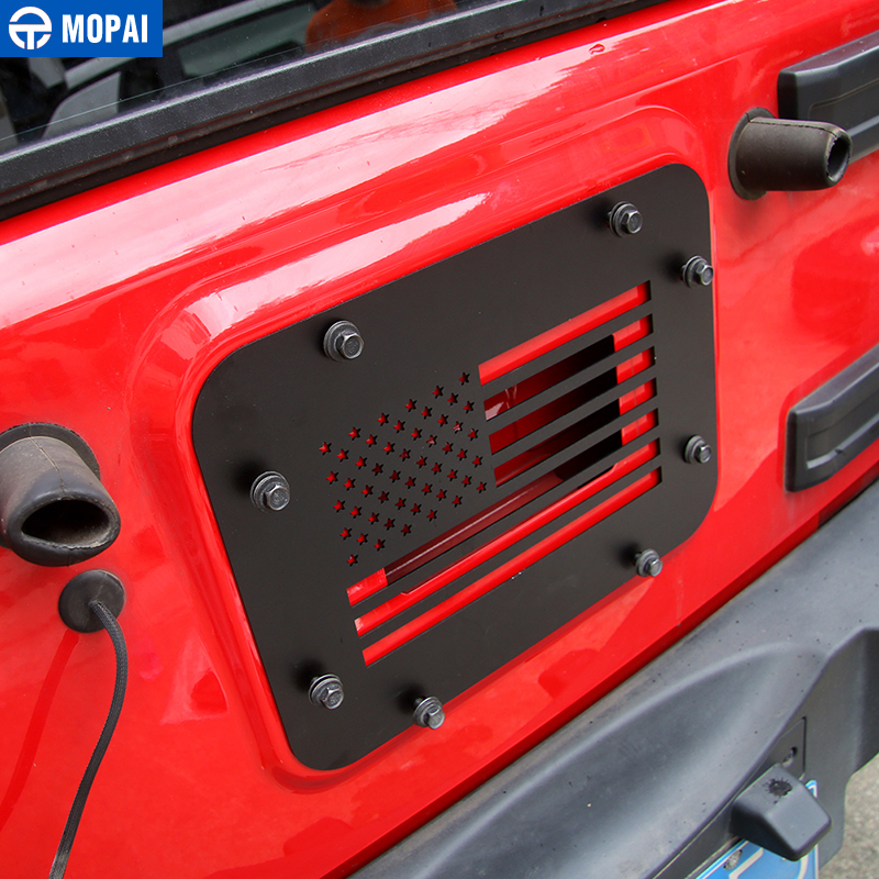 Image 3 - MOPAI Car License Plate Mount Tailgate Air Vent Decoration Cover for Jeep Wrangler JK 2007 2017 Car Accessories Styling-in Chromium Styling from Automobiles & Motorcycles