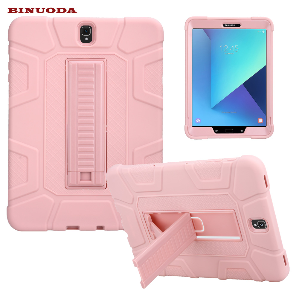 For Samsung Galaxy Tab S3 Case 9.7inch Tablet T820 Drop resist Hybrid Armor PC Silicone Skin Cover for Galaxy Tab S3 9.7 SM-T825 case for samsung galaxy tab a 9 7 inch tablet sm t555 t550 555 550 hybrid stand hard silicone rubber armor case cover gift 3in1