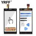 For LG P880 Optimus 4X HD P880G Touch Screen Panel Digitizer Touch Screen Panel Sensor Lens Glass Logo + Adhesive Free Shipping