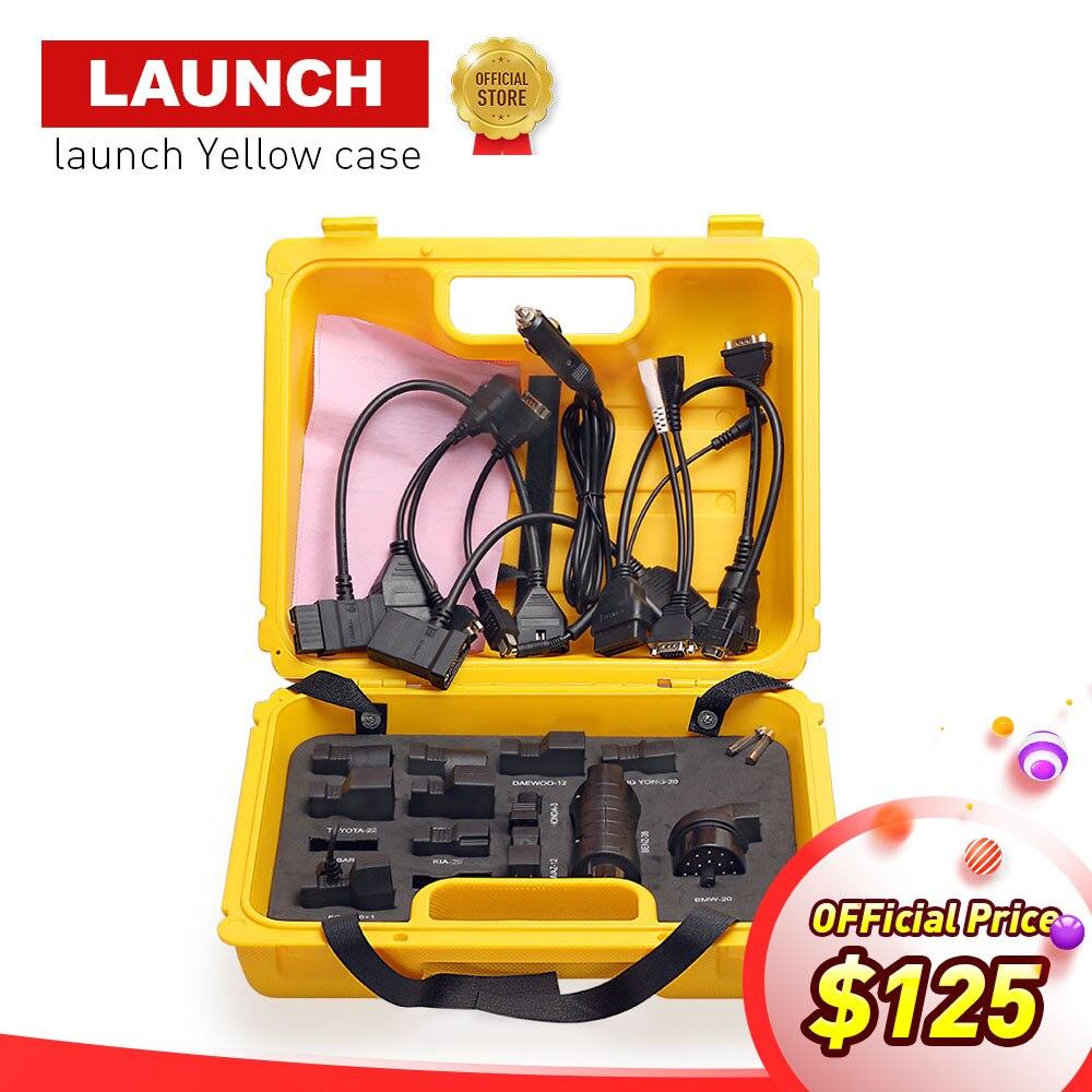 Старт X431 Diagun IV желтый чехол с полным набором кабелей и адаптеры желтый ящик для x-431 Diagun IV DHL Бесплатная доставка