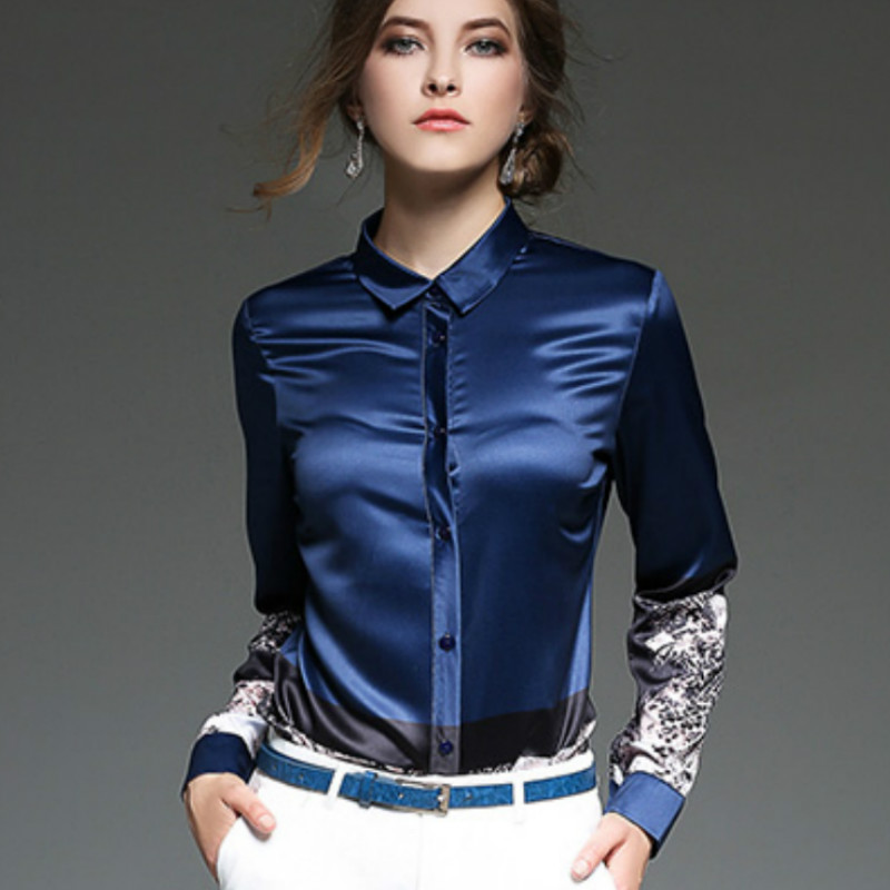 Famoso 2017 Autunno inverno manica lunga stampa shirt donna elegante  KY95