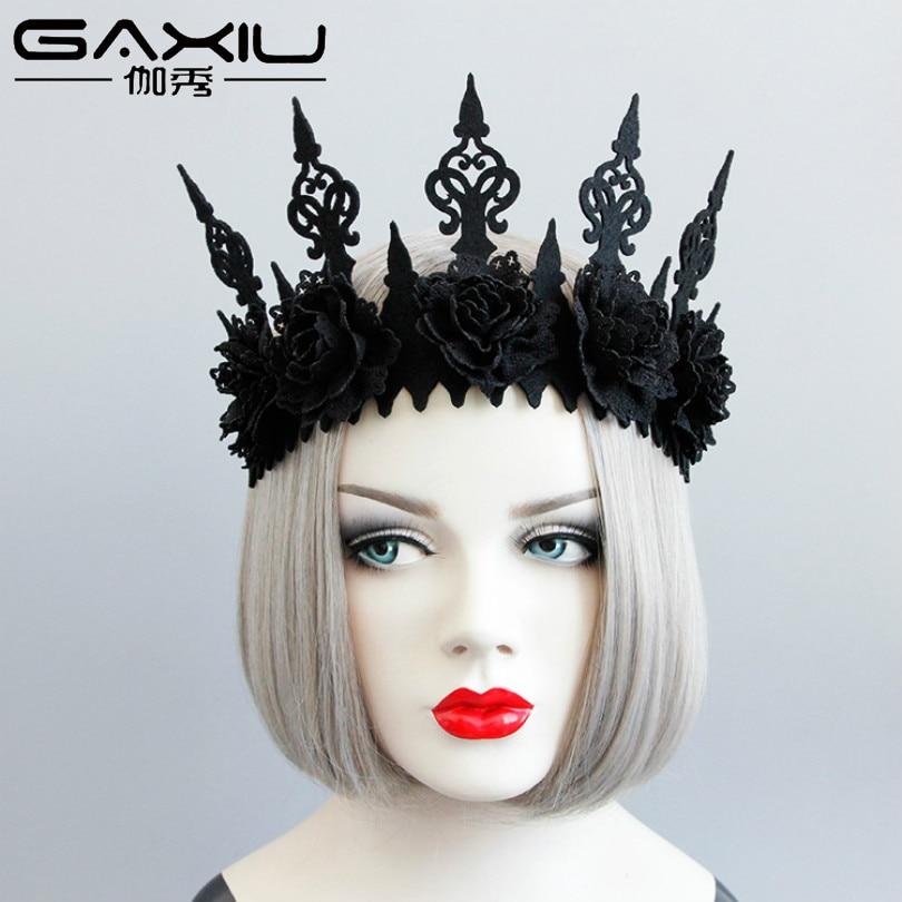 Flower Crown Jewelry Ornaments Tiara-Hair Wedding-Hair-Accessories Princess-Queen-Head