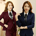 New Style Black Blazer Women Business Suits Formal Office Suits Work Suits Sets Elegant Pantsuits Jacket+Pants