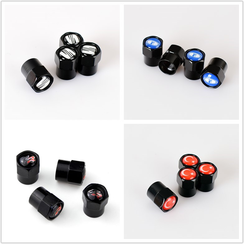 4pcs New Metal Wheel Tire Valve Caps Stem Case For Hyundai Suzuki Mazda Opel Lada Toyota Chevrolet Audi Bmw Kia Car Accessories