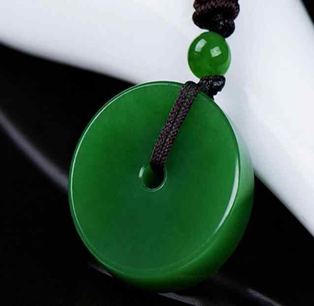 И нефритовый яшма зеленая пряжка мужской и женский нефритовый перегрузка бисера безопасности подвесной кулон
