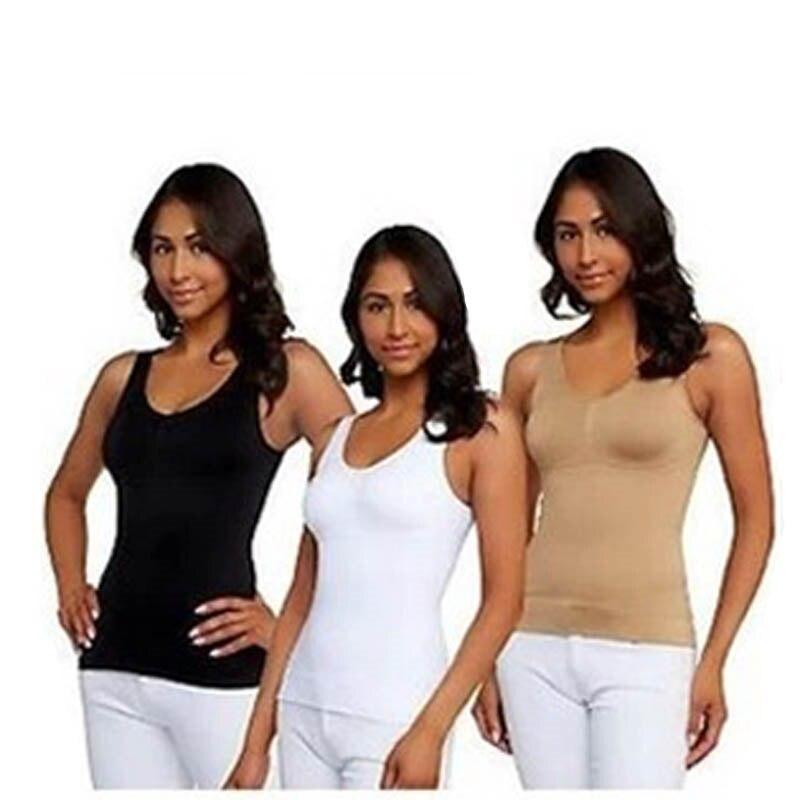 47c693d674 Sale Genie Bra Cami Tank Top Women Body Shaper Removable Shaper Underwear  Slimming Vest Corset Slimming Camisole Dint