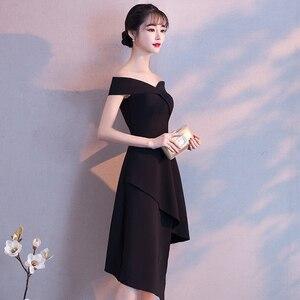 Image 3 - DongCMY שחור לנשף שמלת 2020 חדש הגעה אופנה סימטרי קצר מפלגה שמלה