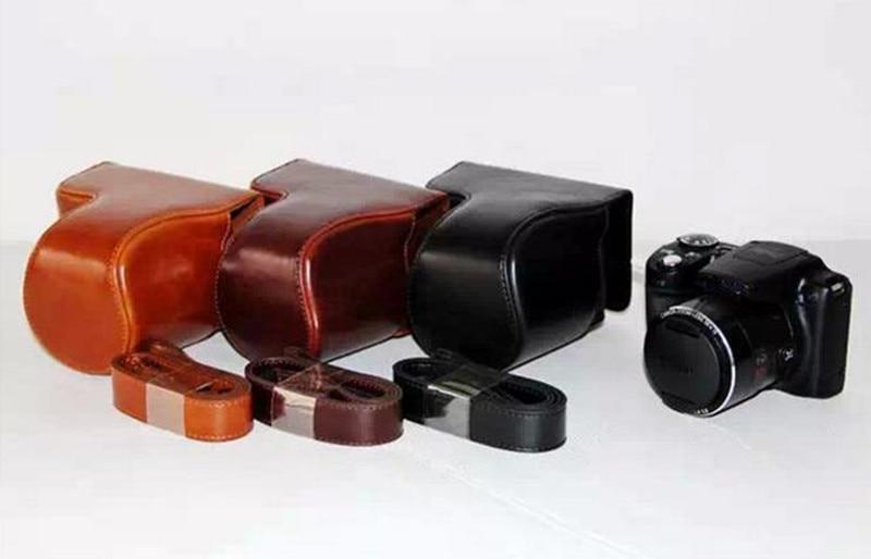 DSRL Camera bag PU Leather shoulder bag Case Cover for Canon SX510 HS SX510HS