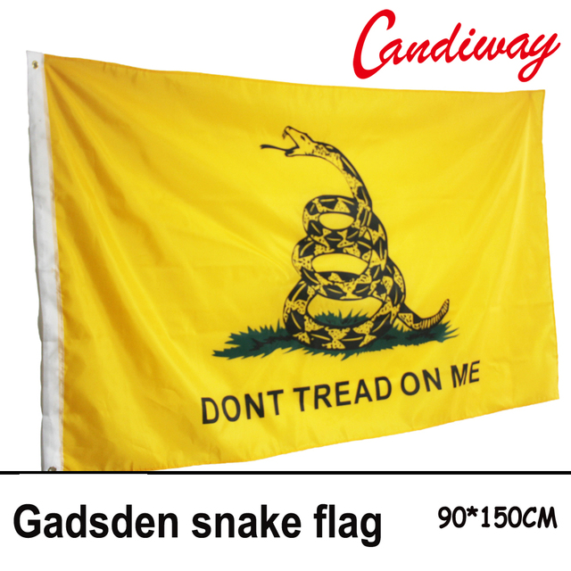 90 x 150cm durable polyester printing gadsden flag snake don t