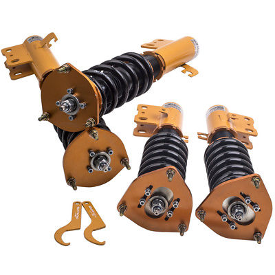 Fully Adjustable Suspension Coilovers Kit for Subaru Forester 1998 1999 2000 2001 2002 L Wagon 4-Door Shock Absorber Struts 800 wires soft silver occ alloy teflo aft earphone headphone cable for audeze lcd 3 lcd3 lcd 2 lcd2 ln005399