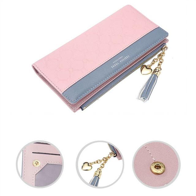 Leather PU Long Zipper Women's Wallet
