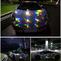 50*150cm Super Cool Car Body Flim Stickers Color changing Electro Coating Silver Film Vinyl Wrap for Car Bike Body Cover Styling