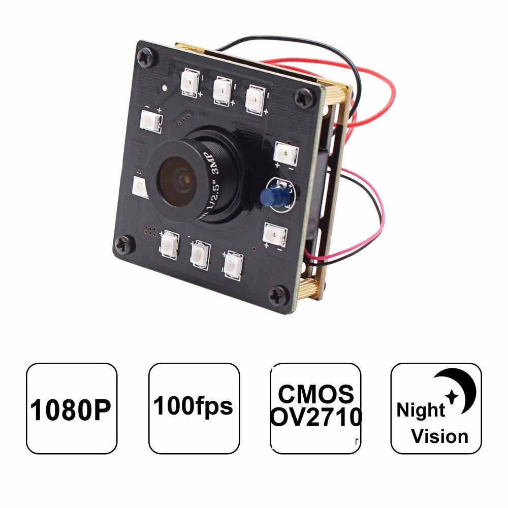 New Arrival Infrared Camera Module 1080P High Speed 100fps CMOS OV2710 Sensor 2mp Night  ...