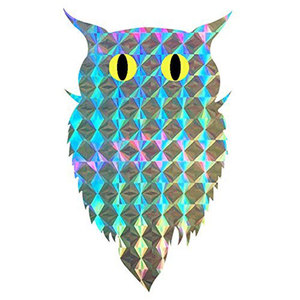 Bird Repellent Blinder Reflective self adhesive Owl Label (100pcs/roll) Eco Friendly Scare A Bird - Window Decor decals