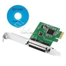 パラレルポート DB25 25Pin lpt プリンタ pci e express カード変換アダプタ whosale & ドロップシップ