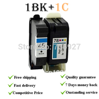H45 H78 Remanufacured Ink Cartridges Suit For Hp45BK 51645A Suit For HP Deskjet 920c 930c 948c