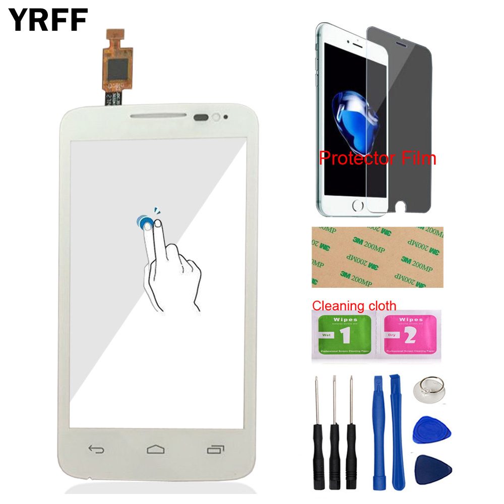 Touch Screen For Alcatel One Touch M'Pop OT5020 5020 5020D Phone Front Glass Touch Screen Touch Digitizer Panel Protector Film