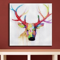 Fashion Oil Painting Deer head pop art Paiting Home Decor On Canvas Modern Wall Art Canvas Print Poster Canvas Painting Unframed