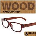 2016 Retro óculos De armação de Madeira para os homens de madeira quadros aponta para ler armacao oculos de grau masculino