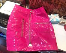 2019 New Arrival Sale Pu Saia Faldas Mujer Skirts Women's Skirt Patent Leather Rose Zipper Pocket Solid Color Bag Hip Female цена