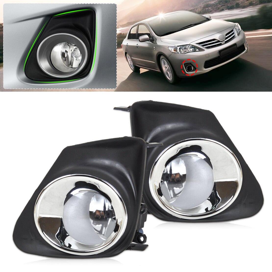 Dwcx 8122006070 812200d040 2pcs front bumper fog light lamp 2pcs grille cover for toyota