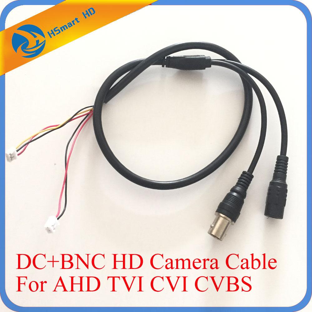 55cm 5 Pin Analog BNC F Video & DC Jack Female Cord CCTV AHD TVI CVI 1080P Camera Power HD Black Cable/Lead