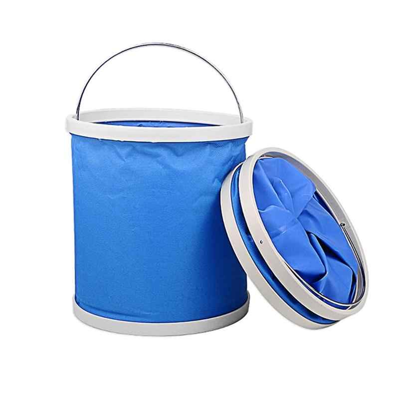 Portable Folding Bucket Collapsible Multifunctional Folding Outdoor Bucket Basin for Camping Hiking Travelling Fishing Washing