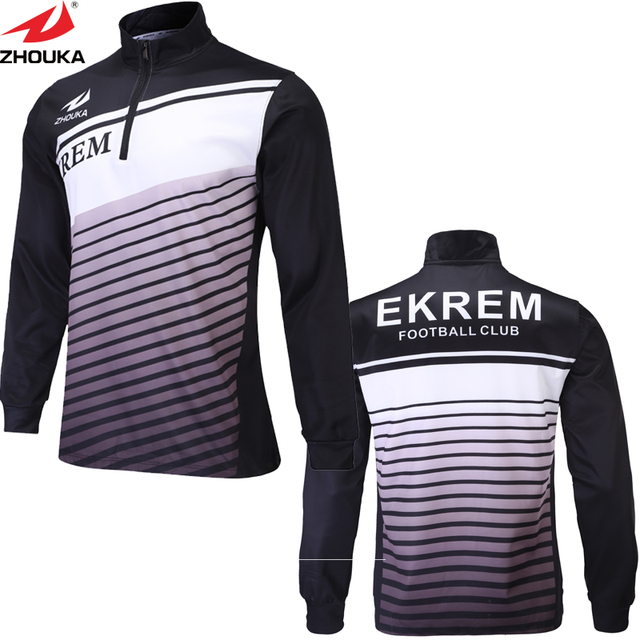 Us 120 0 Sublimation Herbst Winter Verdickung Warm Langen Armeln Fussball Trikots Manner Fussball Training Kleidung Customizing In Sublimation Herbst