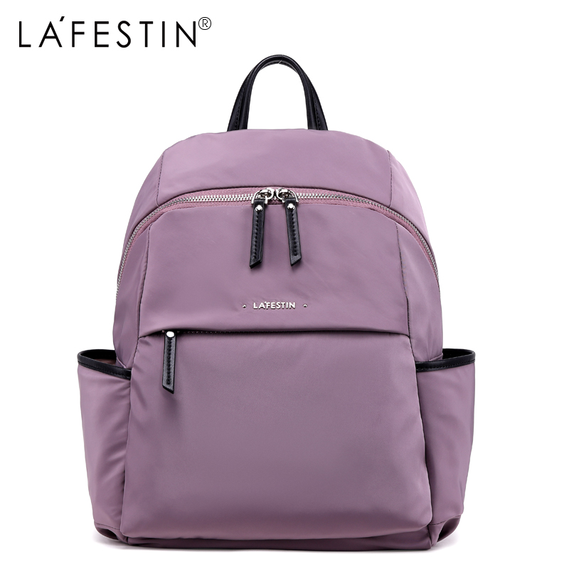 LAFESTIN Women Backpack New Nylon Casual Travel Backpack Teenager Girls School Bags Backpack female bolsa mochila Rucksack vintage casual small women printing backpack ladies casual preppy style school bag teenager girls female travel rucksack mochila
