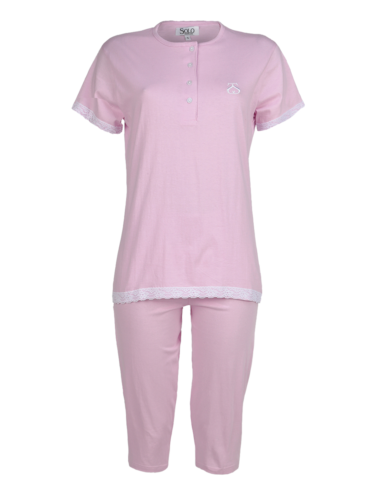 Pajamas With Pants 3/4 And Lace
