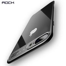 ROCHA Caso Fino para o iphone 8 7 6 6 s plus, transparente PC & TPU Silicone para o iphone Capa Caso Coque para iPhone7