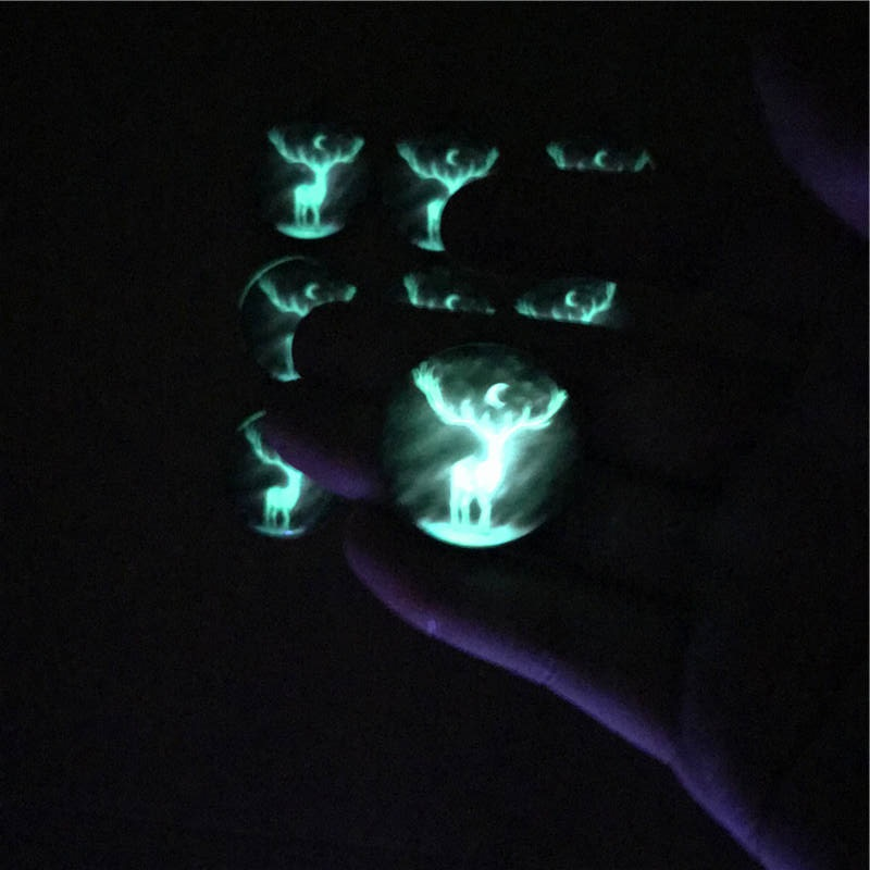 Patron Saint Stag Luminous Toys Accessory for Harry Potter Expecto Patronum Figure Magic Power Protect Christmas Gift