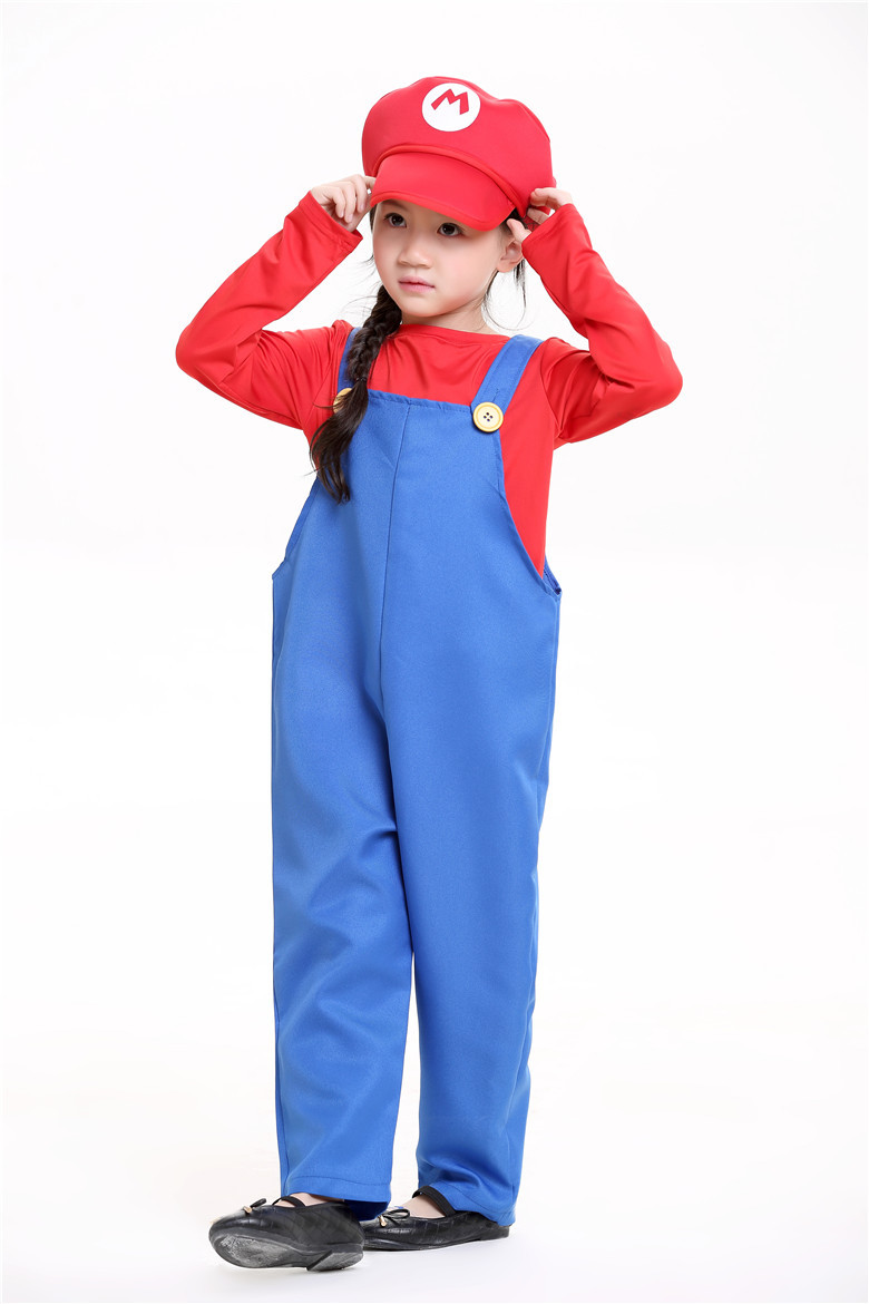 super mario costume women for kids bros girl cosplay mario child