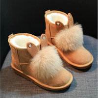 2019 New Warm Ankle Boots Platform Rubber Female Boots Winter Snow Footwear Lady Flats Shoes Fox Lovely Rabbit ears boots UU 51