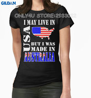 Gildan Only4U Make Your Own Shirt New Style Women I May Live In Usa But I