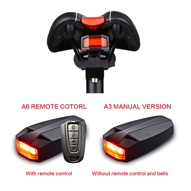 4 In 1 Anti-theft Bike Security Alarm Wireless Remote Control Alerter Taillights Lock Warner Waterproof Bicycle <font><b>lamp</b></font> Accessories