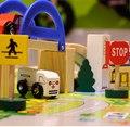 Trem de madeira brinquedos quebra-cabeça Trians