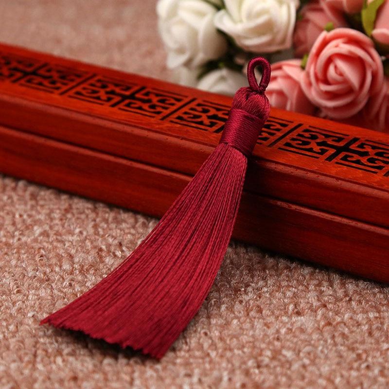 25 цветов, Новое поступление, высокое качество, горячая Распродажа, 1 шт., ручная работа, уникальные красивые шелковые кисточки, свадебные ювелирные аксессуары - Цвет: Wine red