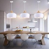 White Pendant Light Vintage Industrial Lighting Fixture Kitchen Modern LED Ceiling Lamp Living Room Kitchen Antique