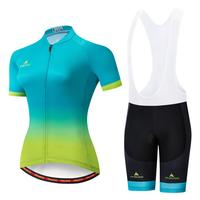 MILOTO 2019 Cycling Clothing Women Set Summer Bike Clothing Breathable Anti UV Bicycle Wear Short Sleeve Cycling Jersey Sets