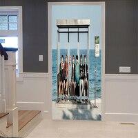 Waterproof 3D Wall Door Stickers DIY Self adhesive Art Decals for Home Decoration Door Wall Stickers