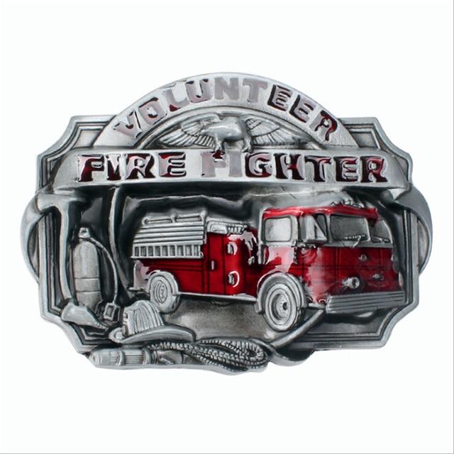 DIY belt clip Metal Belt buckles handmade firefighter fire engine ...