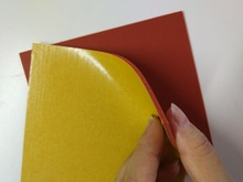 custom made silicone foam sheet  Red silicone sponge sheet heat transfer rubber matt with adhesive one side